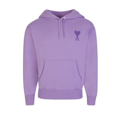 AMI De Coeur Lilac Large Embroidered Hoodie