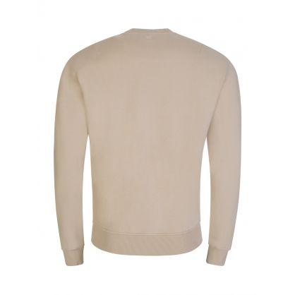 AMI De Coeur Beige Fleece Sweatshirt