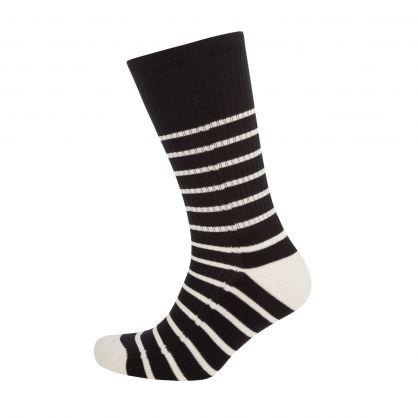 Black/White Ami de Coeur Striped Socks