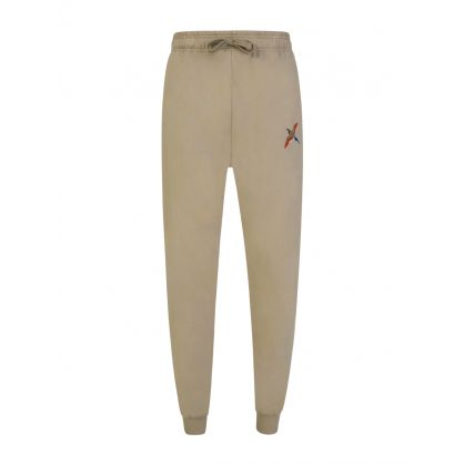 Beige Single Tori Bird Sweatpants