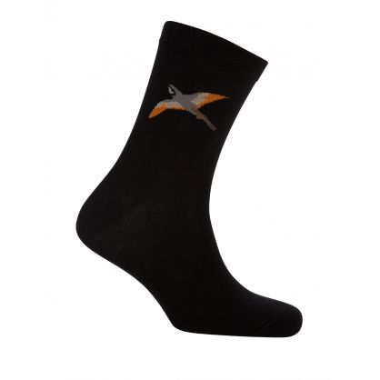 Black Tori Bird Socks