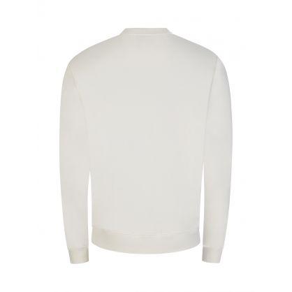 White Script Logo Sweatshirt