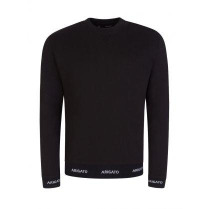 Black Logo Hem Sweatshirt