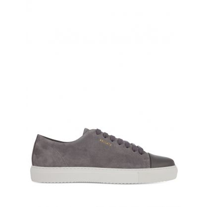 Grey Suede Leather Cap-Toe Trainers