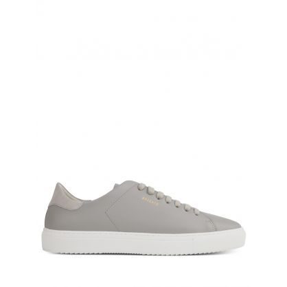 Grey Clean 90 Leather Trainers