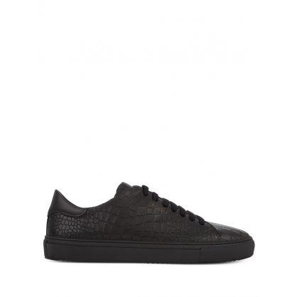 Black Clean 90 Croc Trainers