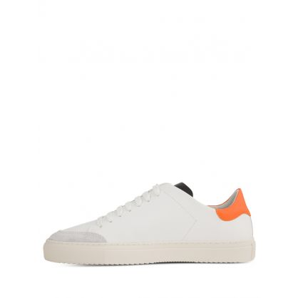 White/Orange Clean 90 Trainers