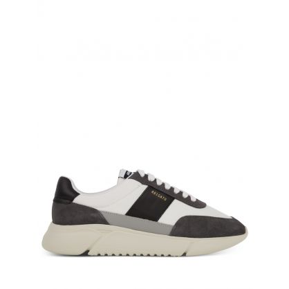 White/Charcoal Genesis Vintage Runner Trainers