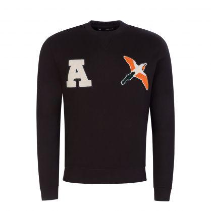 Black Varsity Bee Bird Sweatshirt