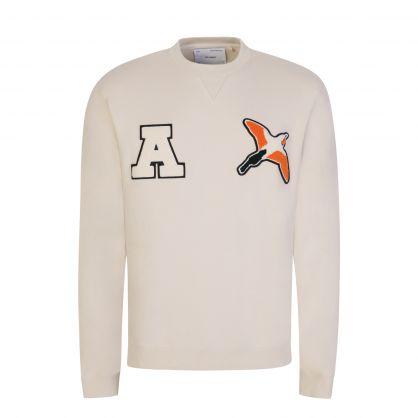 Beige Varsity Bee Bird Sweatshirt
