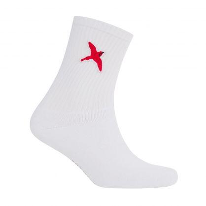 White Rouge Bee Bird Tube Socks