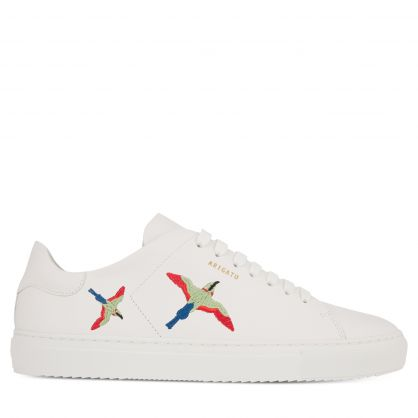 White Clean 90 Bird Embroidery Trainers