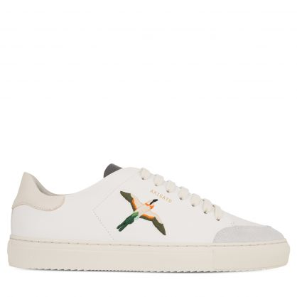 White/Cream Clean 90 Single Bird Trainers
