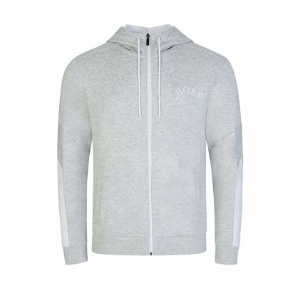 Menswear Grey Saggy Zip-Through Hoodie