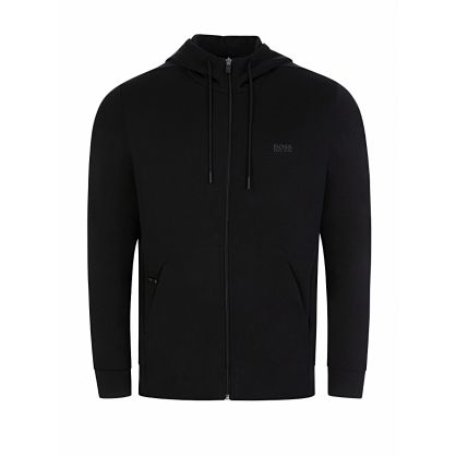Menswear Black Saggy X Zip-Through Hoodie