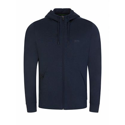 Menswear Navy Saggy X Zip-Through Hoodie