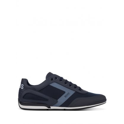 Menswear Navy Saturn Low-Top Trainers