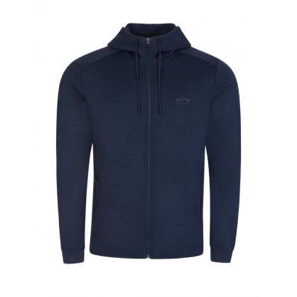 Navy Athleisure Hybrid Saggy Zip-Through Hoodie