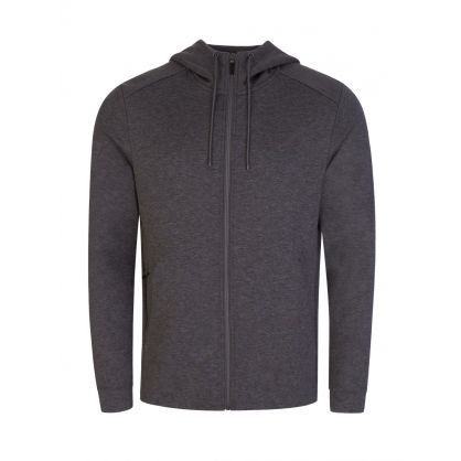 Grey Athleisure Hybrid Saggy Zip-Through Hoodie