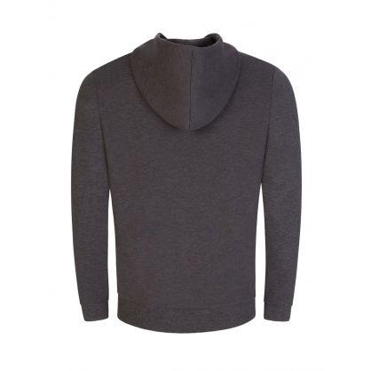 Grey Athleisure Hybrid Saggy Hooded Zip-Through