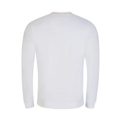 White Salbo Gold-Tone Logo Sweatshirt