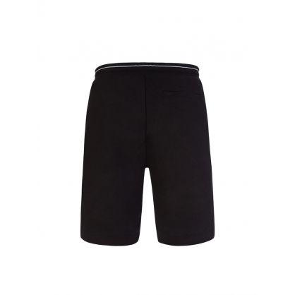 Black Headlo1 Colourblock Logo Shorts