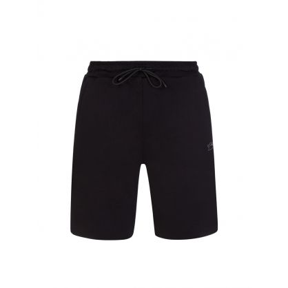 Black Headlo Athleisure Shorts