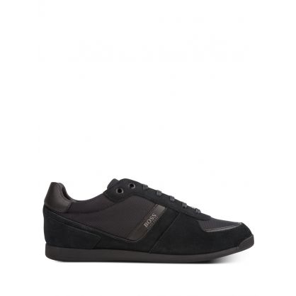 Black Low-Top Maze Trainers