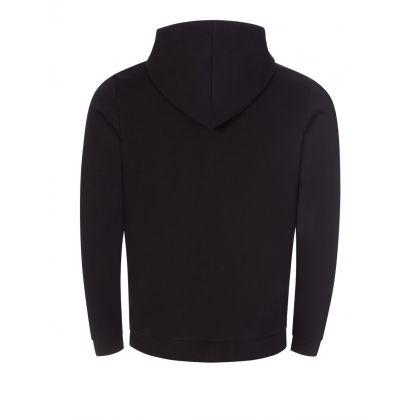 Black Saggy Athleisure Hooded Zip-Through