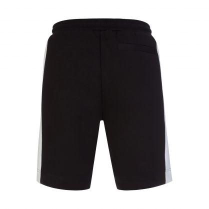 Black Athleisure Headlo Batch Shorts