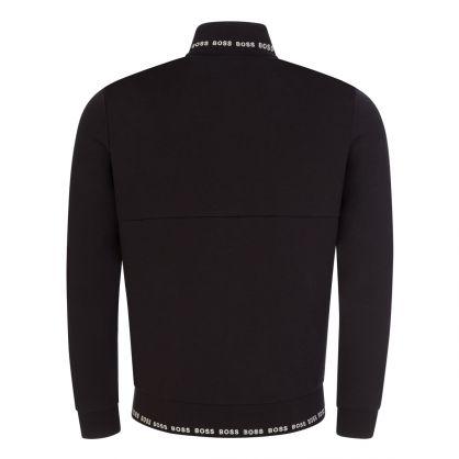 Black Athleisure Skaz 1 Zip-Through Sweatshirt