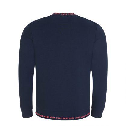 Navy Athleisure Slim-Fit Salbo 1 Sweatshirt