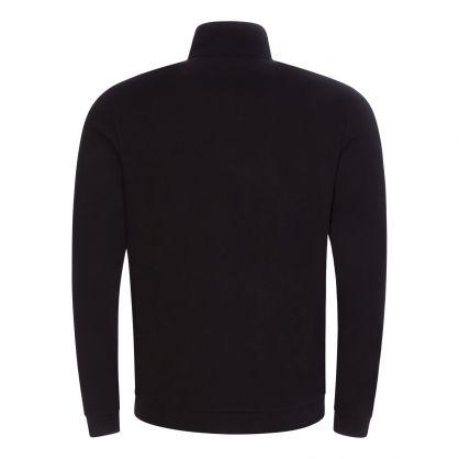 Black Athleisure Skaz Zip-Through Sweatshirt