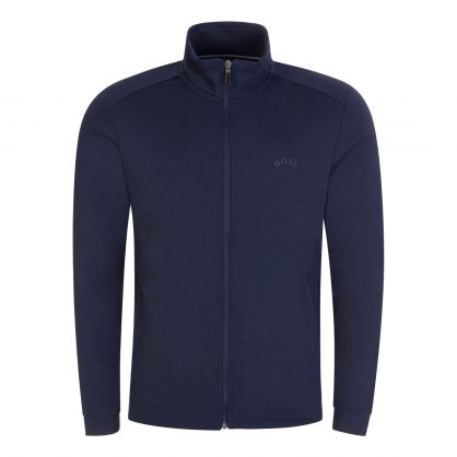 Navy Athleisure Skaz Zip-Through Sweatshirt