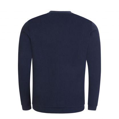 Navy Athleisure Piqué Back Panel Salbo Sweatshirt