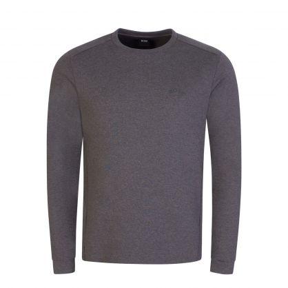 Grey Athleisure Piqué Back Panel Salbo Sweatshirt