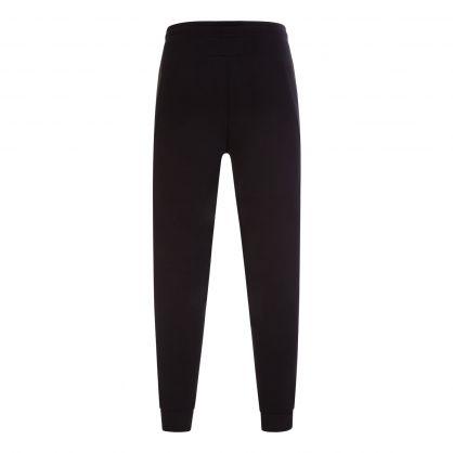 Black Athleisure Pixel Print Logo Tracksuit Sweatpants