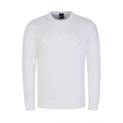 White 3D Logo Sweatshirt
