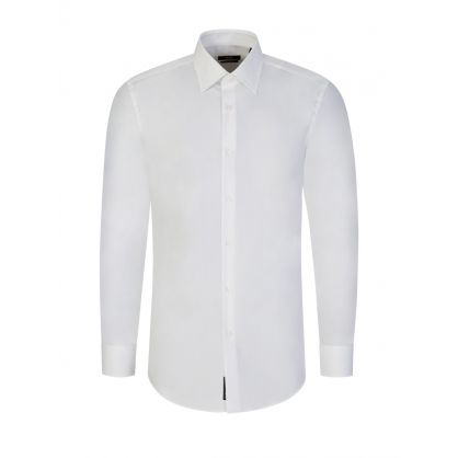 White Slim-Fit Easy Iron Jango Shirt