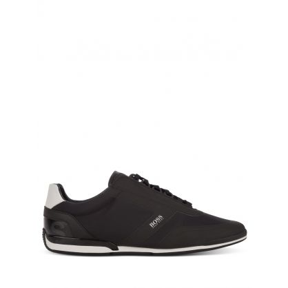 Black Saturn Low Trainers