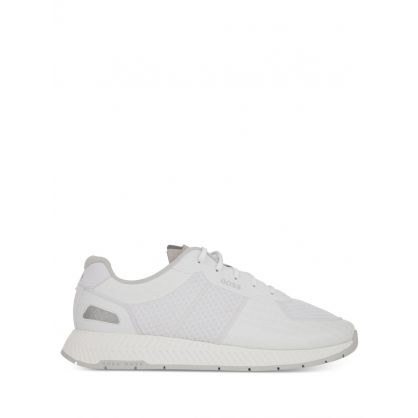 White Titanium Runners Trainers