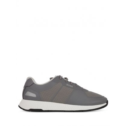 Grey Titanium Runners Trainers