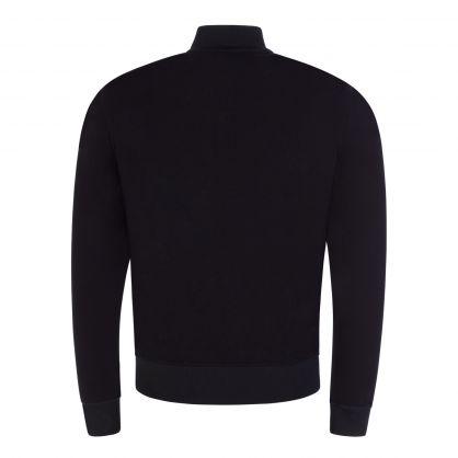 Navy/Grey Scavo Reversible Zip-Through Bomber Sweatshirt