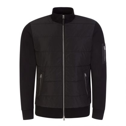 Black Tailored T-Smith Shell & Cotton-Blend Jacket