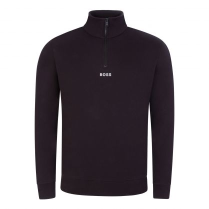 Black Zapper 1/4 Zip Sweatshirt