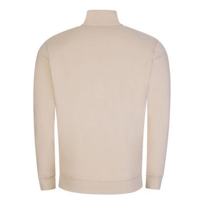 Beige Zapper 1/4 Zip Sweatshirt