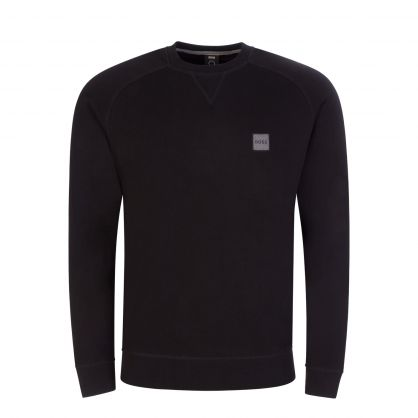 Black Casual Relaxed-Fit Westart 1 Sweatshirt