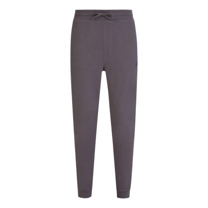 Dark Grey Casual Logo Patch Tracksuit Sweatpants