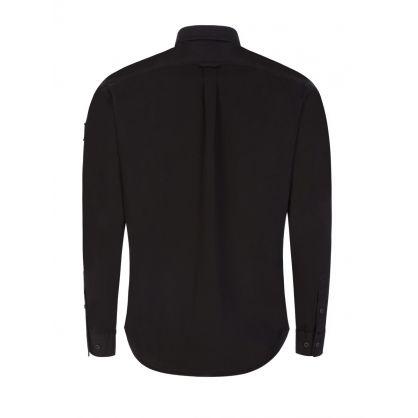 Black Garment-Dyed Pitch Twill Shirt