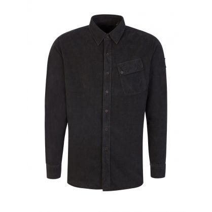 Black Garment-Dyed Pitch Corduroy Shirt